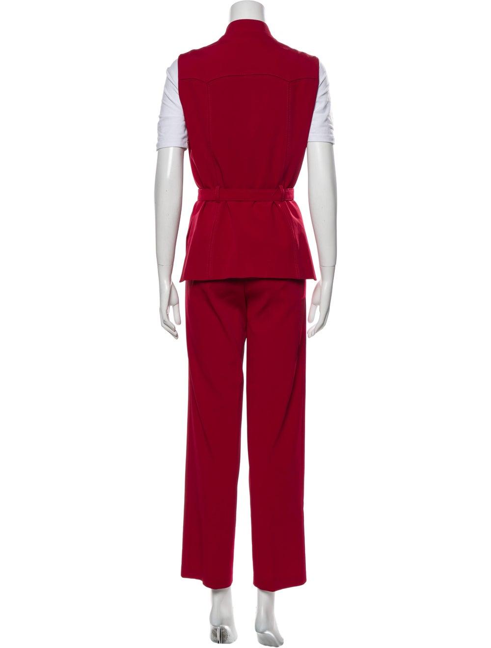 Prada Vintage 1990's Pant Set Red - image 3