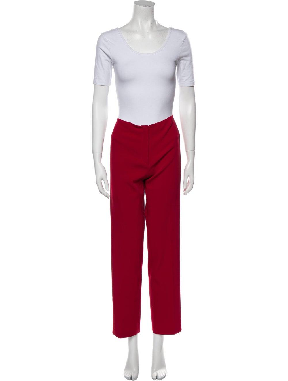 Prada Vintage 1990's Pant Set Red - image 4