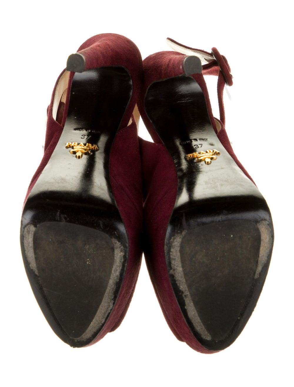 Prada Suede Sandals Red - image 5
