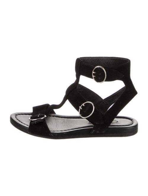 Prada Suede Gladiator Sandals Black - image 1