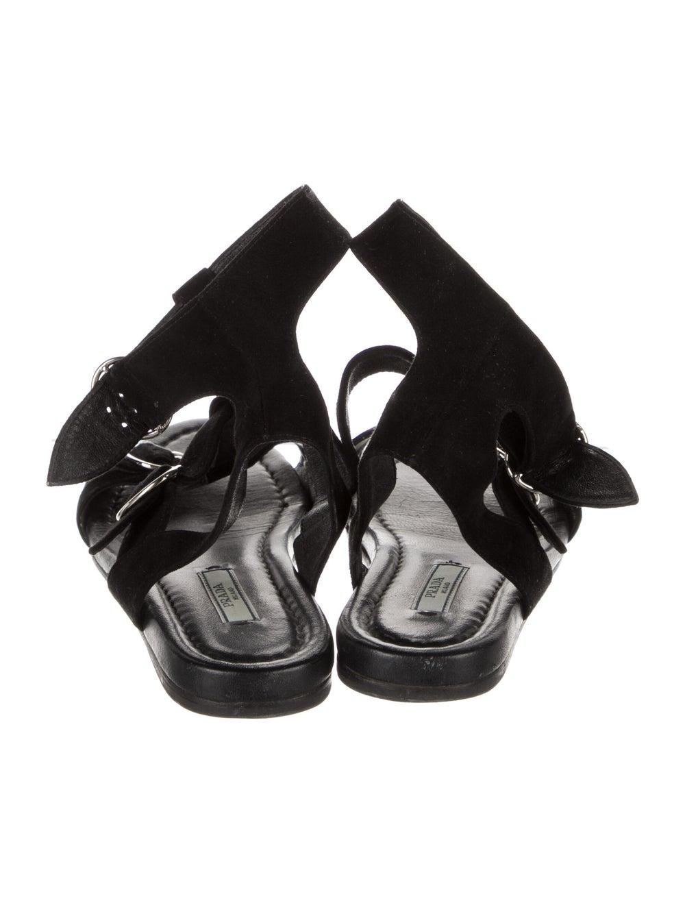 Prada Suede Gladiator Sandals Black - image 4