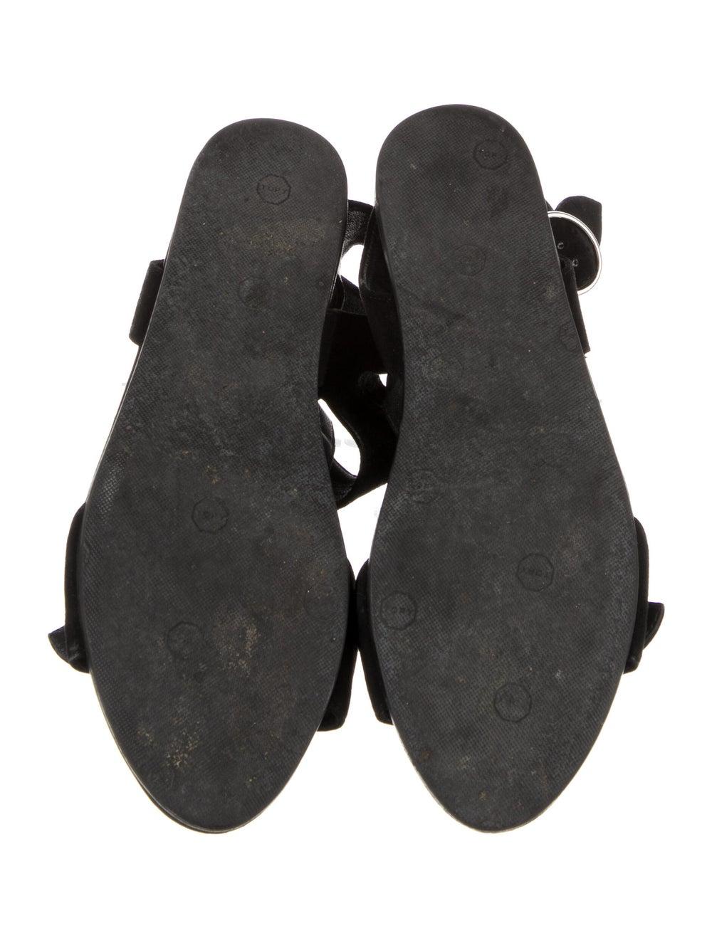 Prada Suede Gladiator Sandals Black - image 5