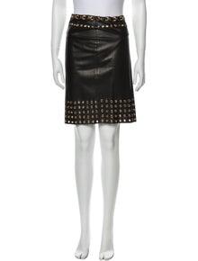 Prada Grommet Accent Knee-Length Skirt