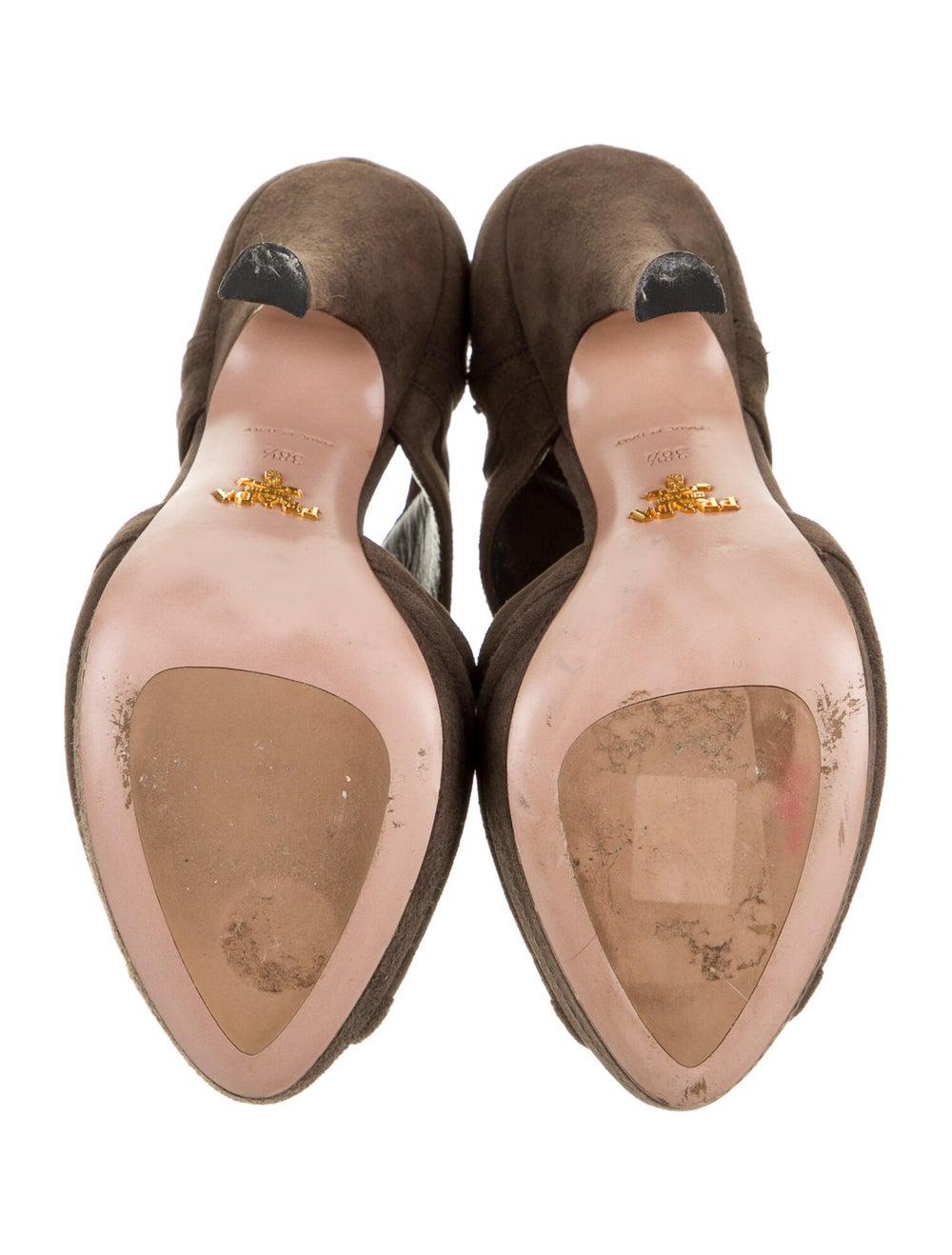 Prada Suede Sandals Brown - image 5