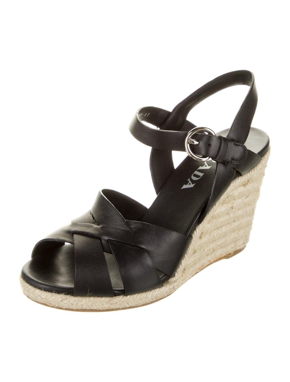 Prada Leather Espadrilles Black - image 2
