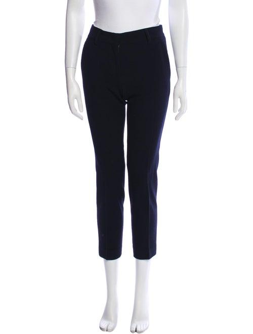Prada Virgin Wool Straight Leg Pants Wool