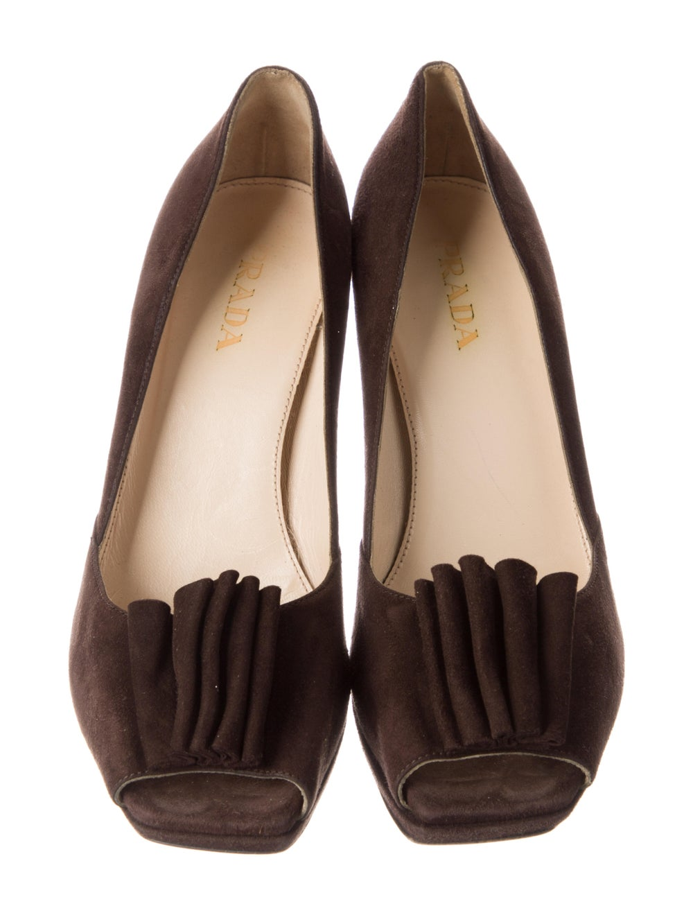 Prada Suede Sandals Brown - image 3