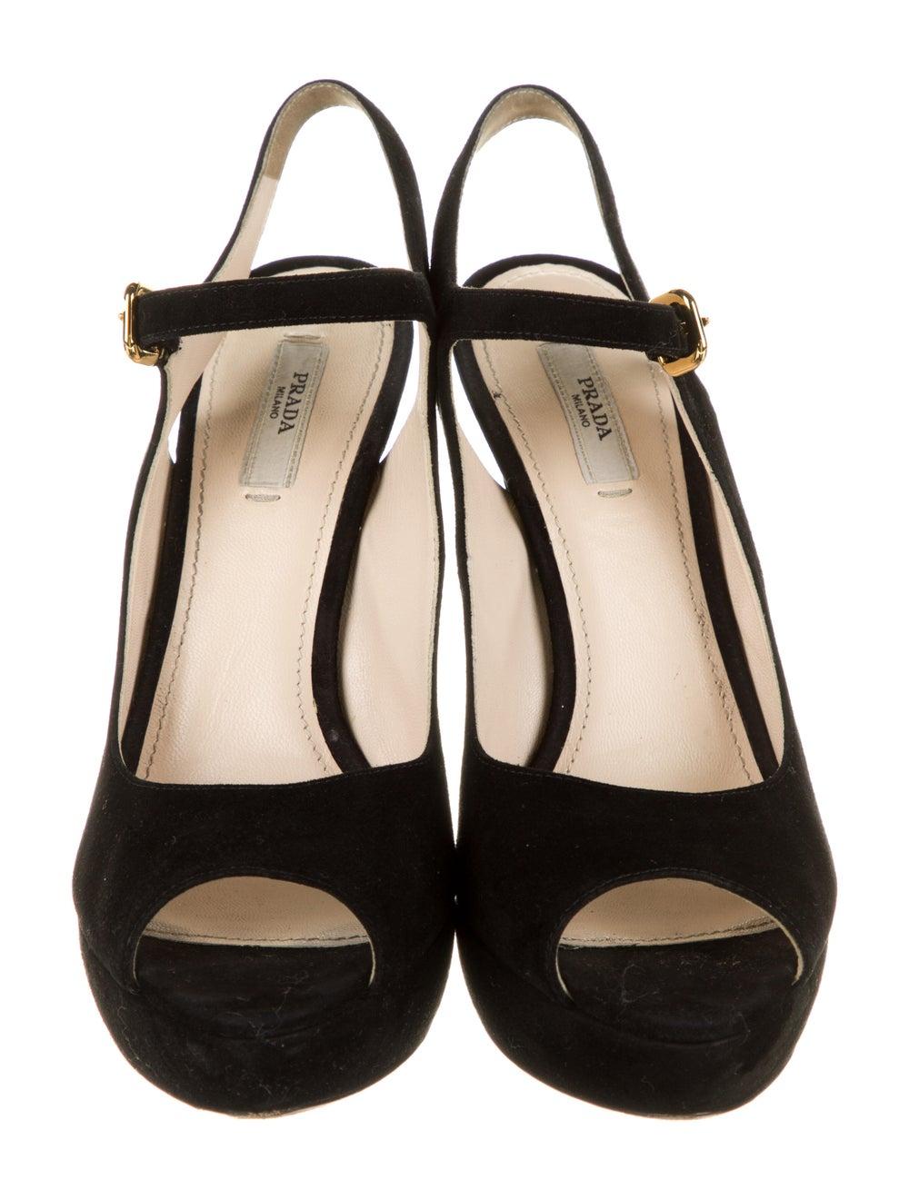 Prada Suede Sandals Black - image 3