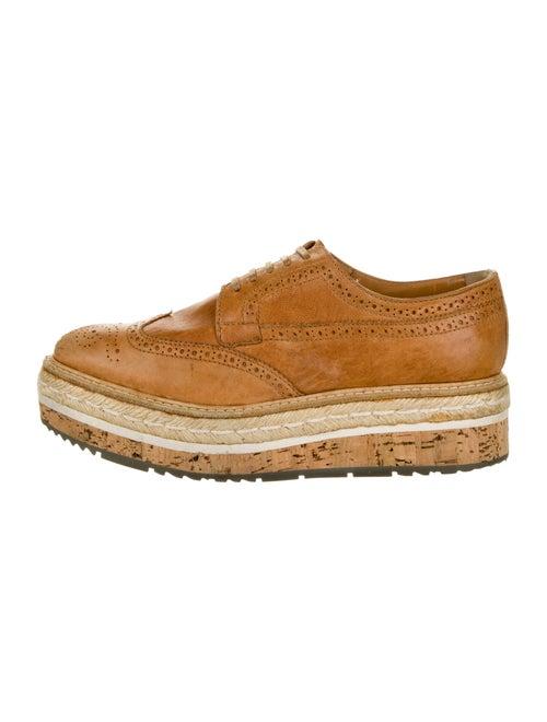 Prada Leather Espadrilles Brown