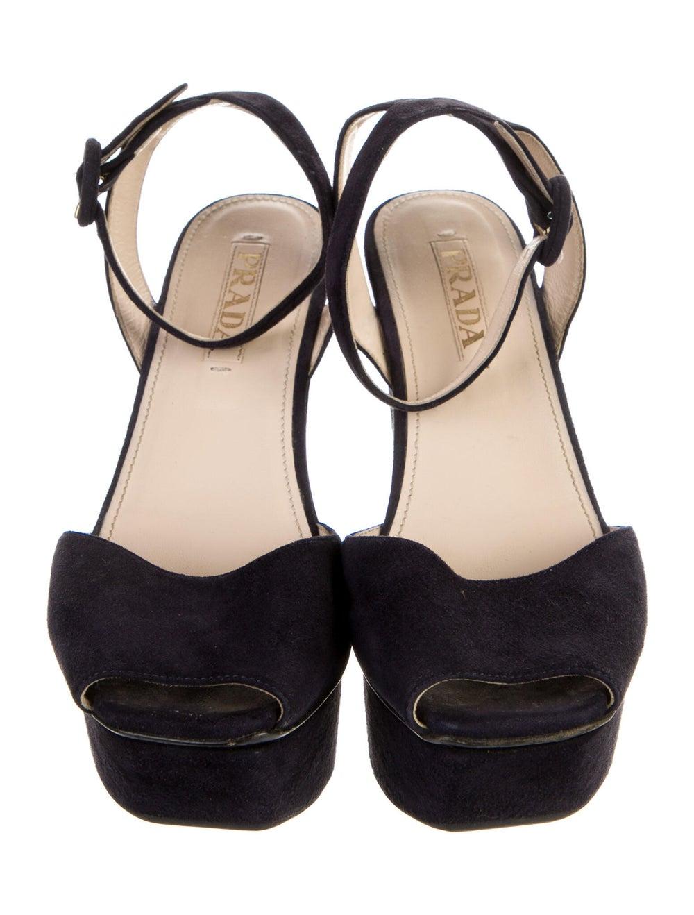 Prada Suede Sandals Blue - image 3