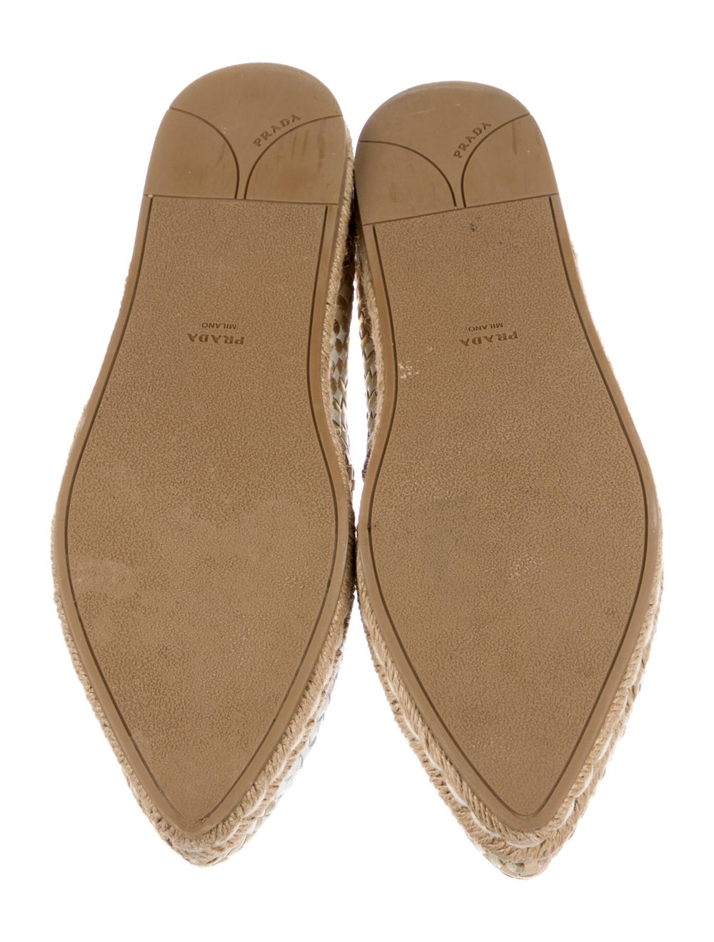 Prada Leather Patterned Espadrilles - image 5