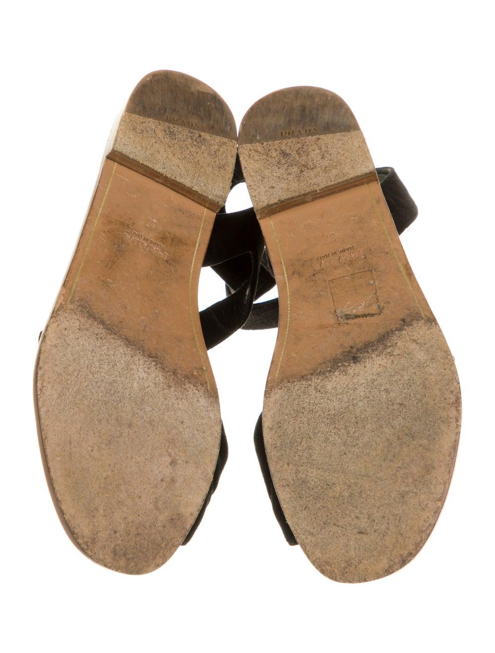 Prada Suede Sandals Black - image 5