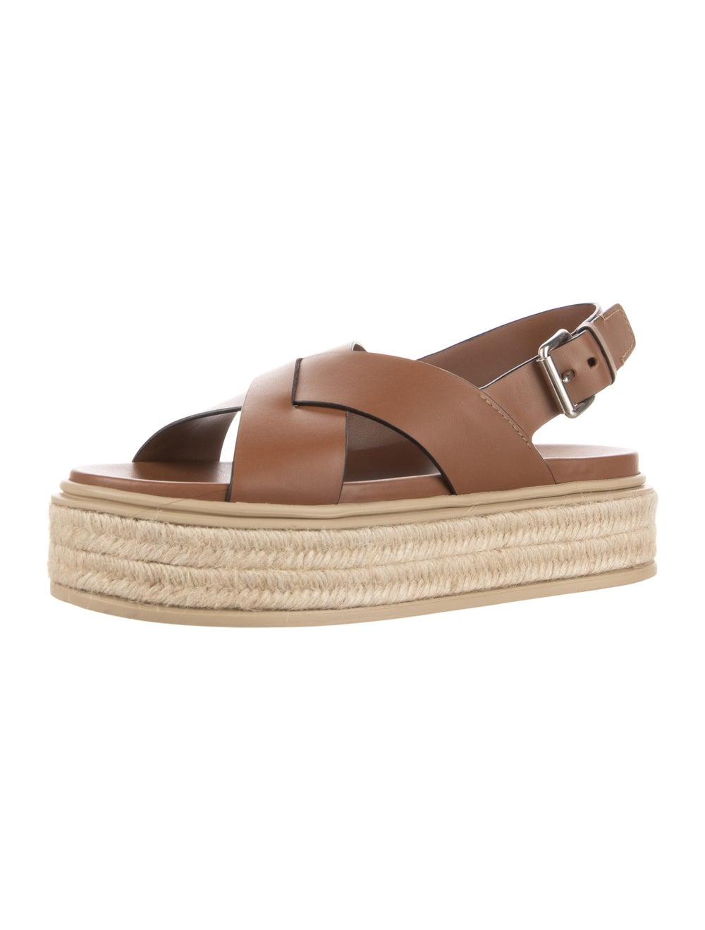 Prada Leather Espadrilles Brown - image 2