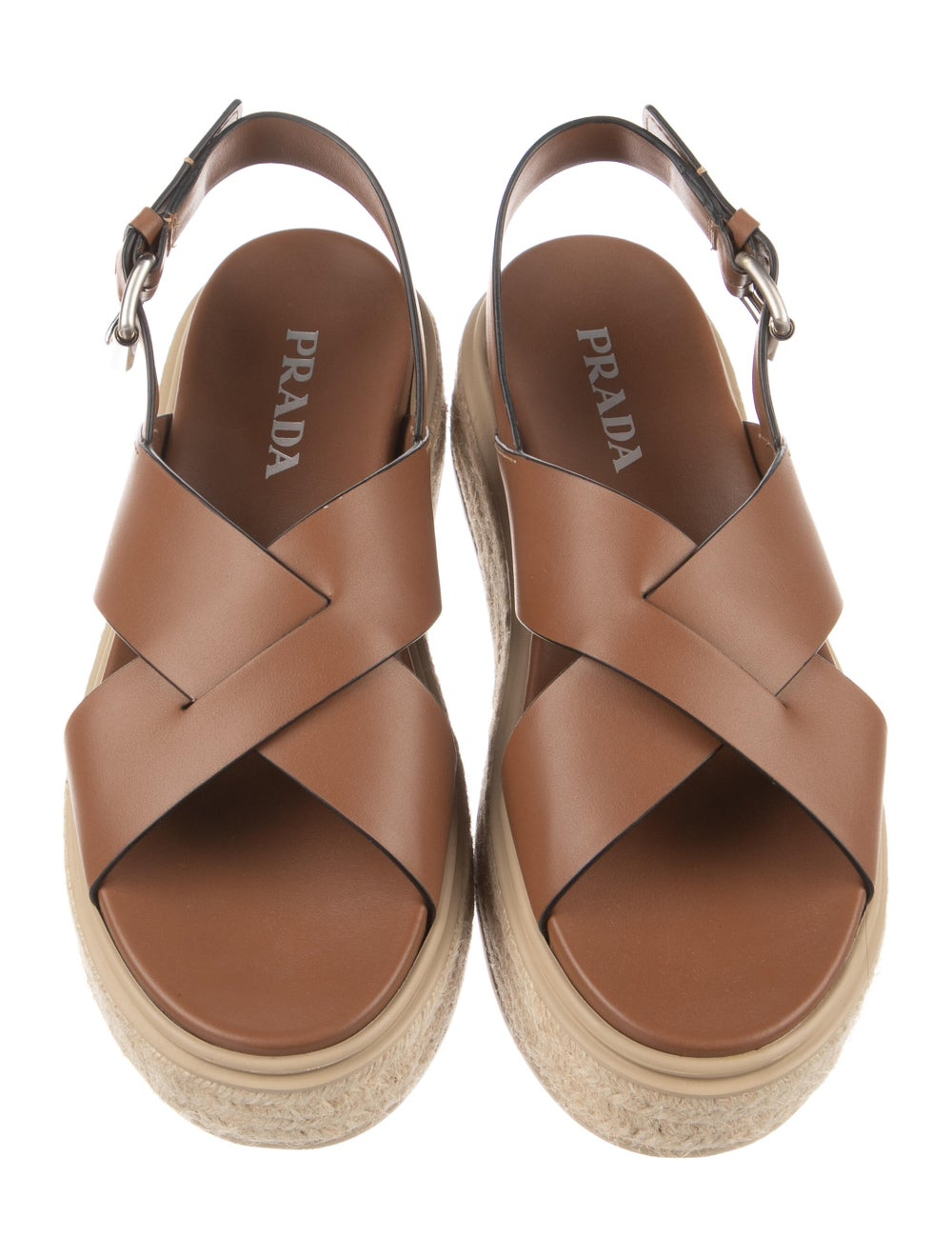 Prada Leather Espadrilles Brown - image 3