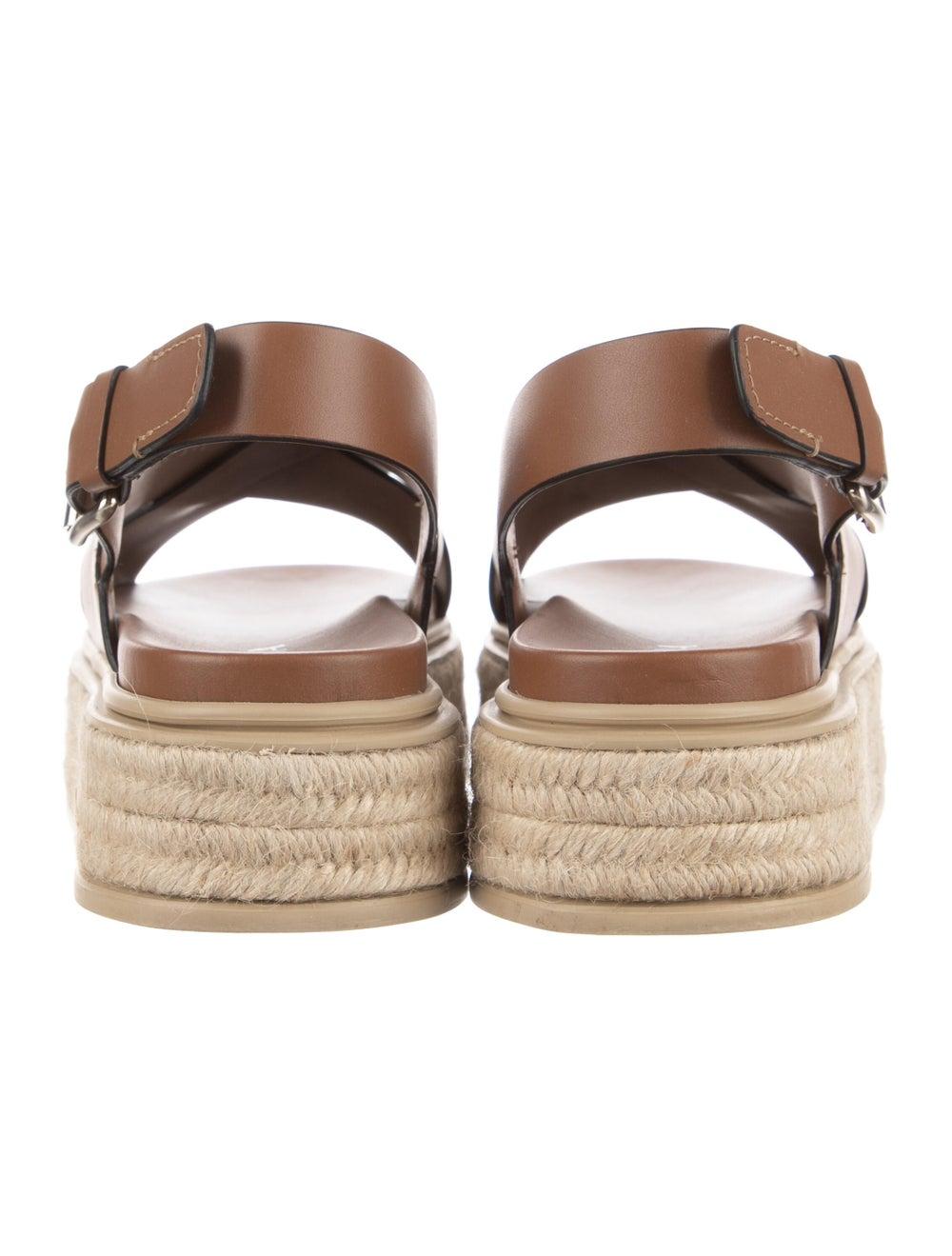Prada Leather Espadrilles Brown - image 4