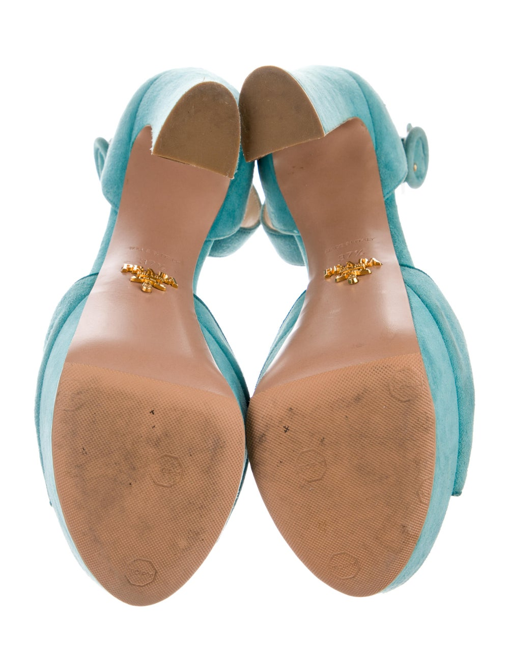 Prada Suede Sandals Blue - image 5