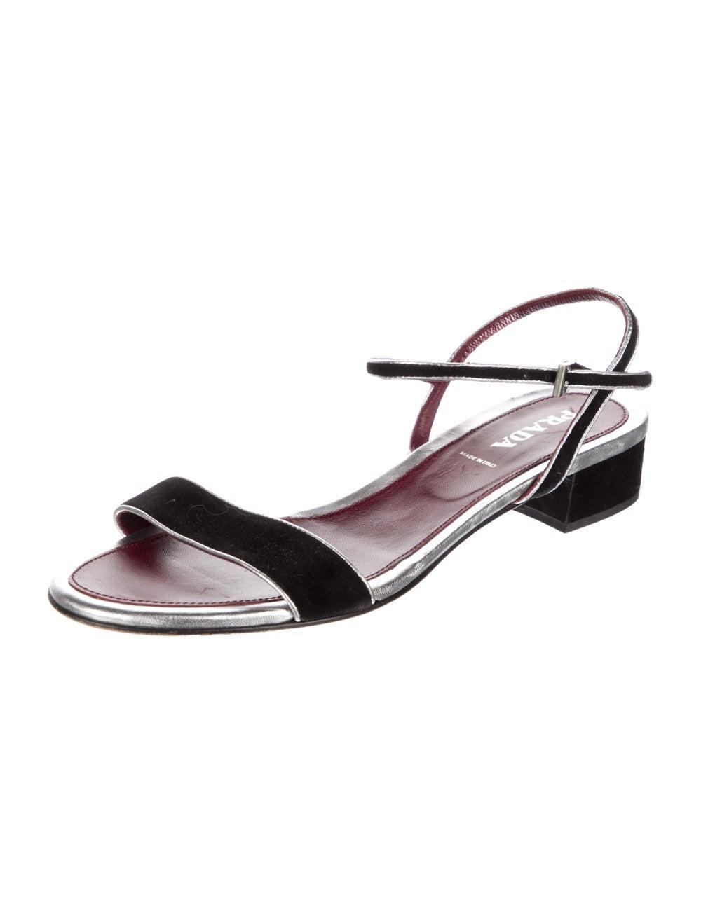 Prada Suede Sandals Black - image 2