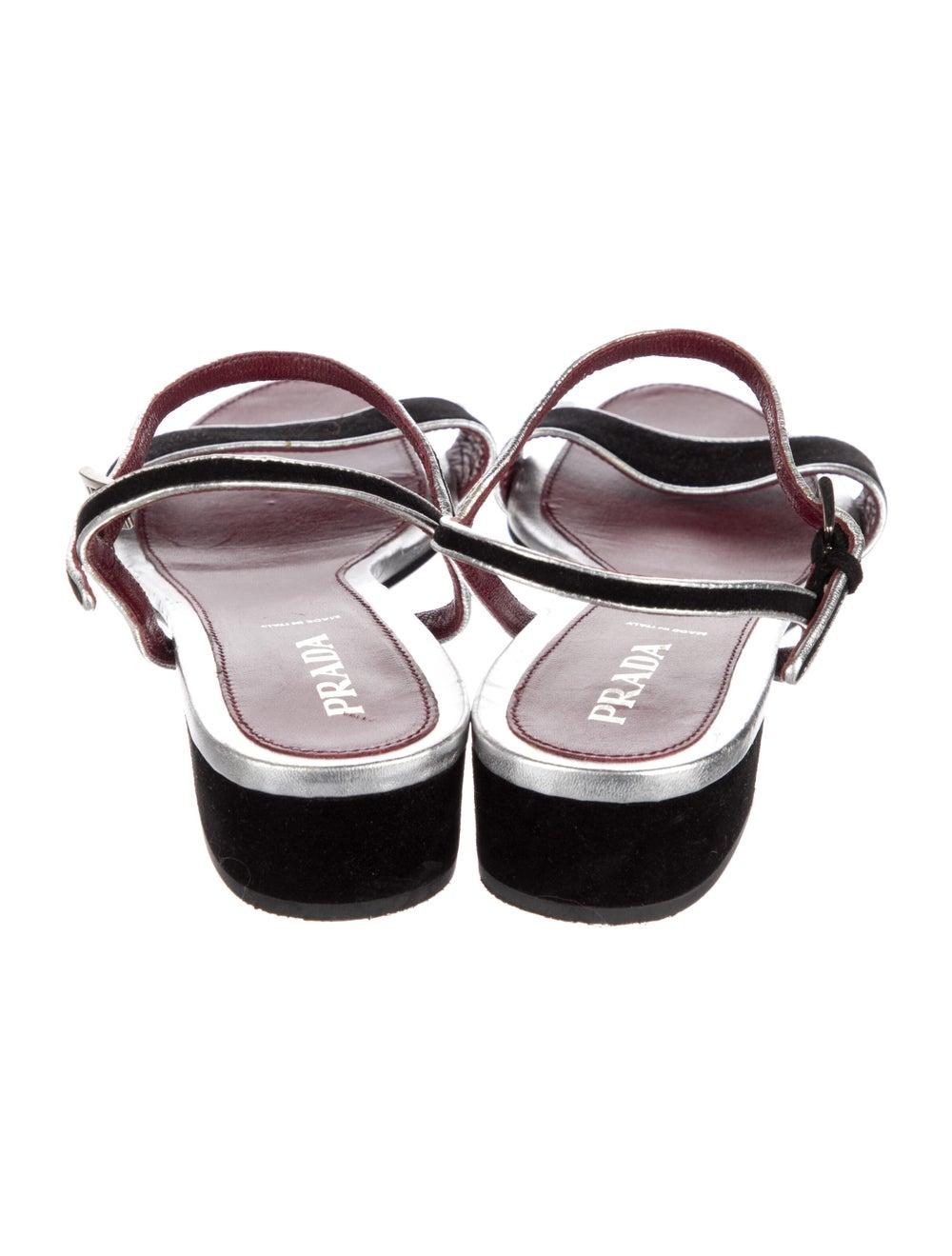 Prada Suede Sandals Black - image 4