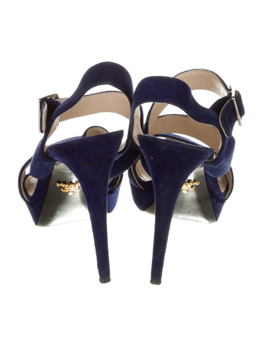 Prada Suede Sandals Blue - image 4