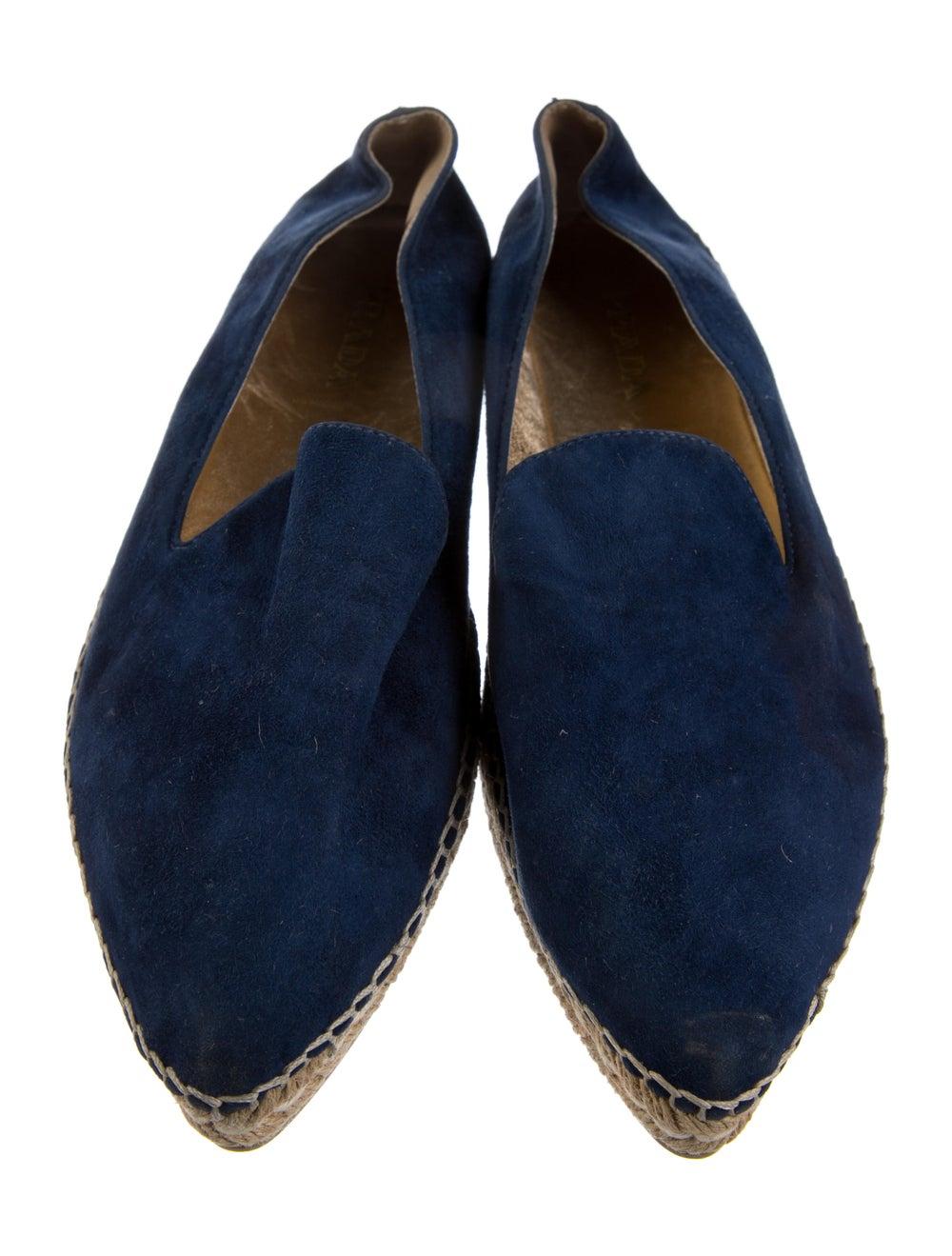 Prada Suede Espadrilles Blue - image 3
