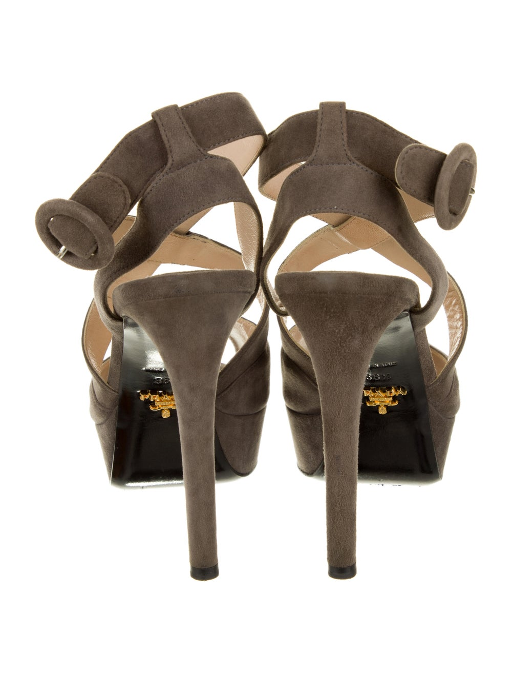 Prada Suede Sandals Grey - image 4