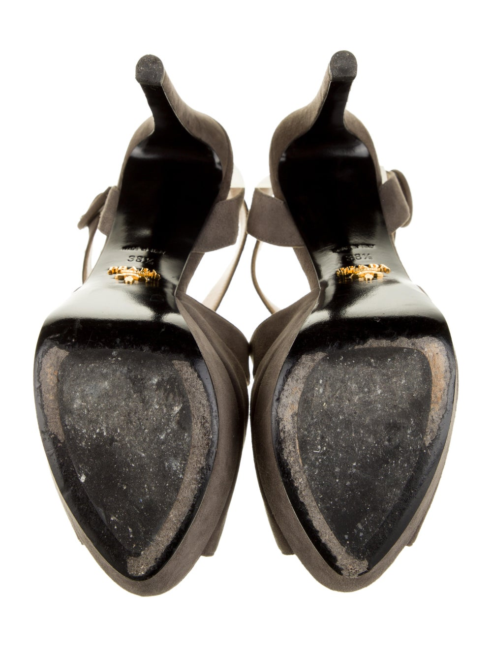 Prada Suede Sandals Grey - image 5