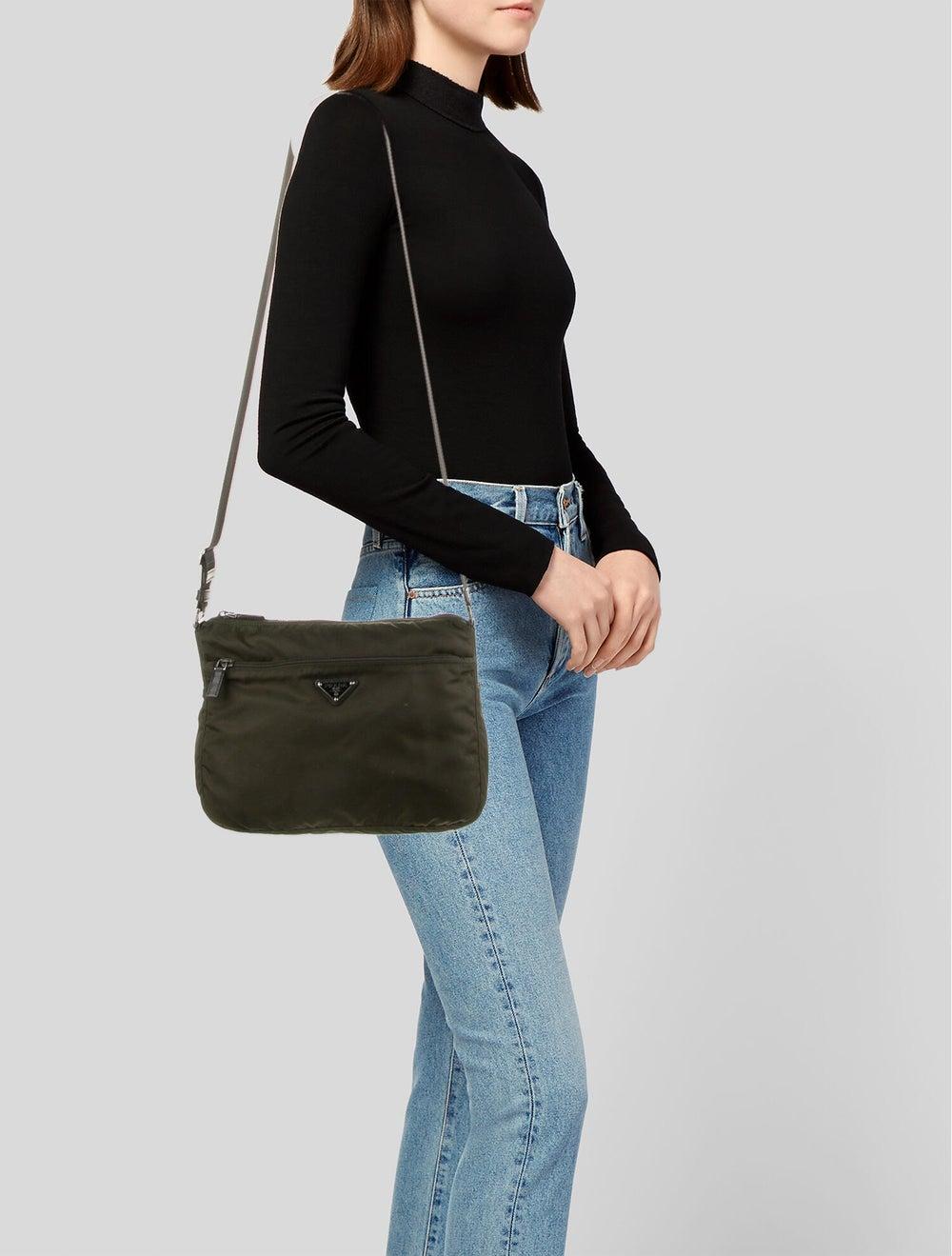Prada Tessuto Messenger Bag Green - image 2