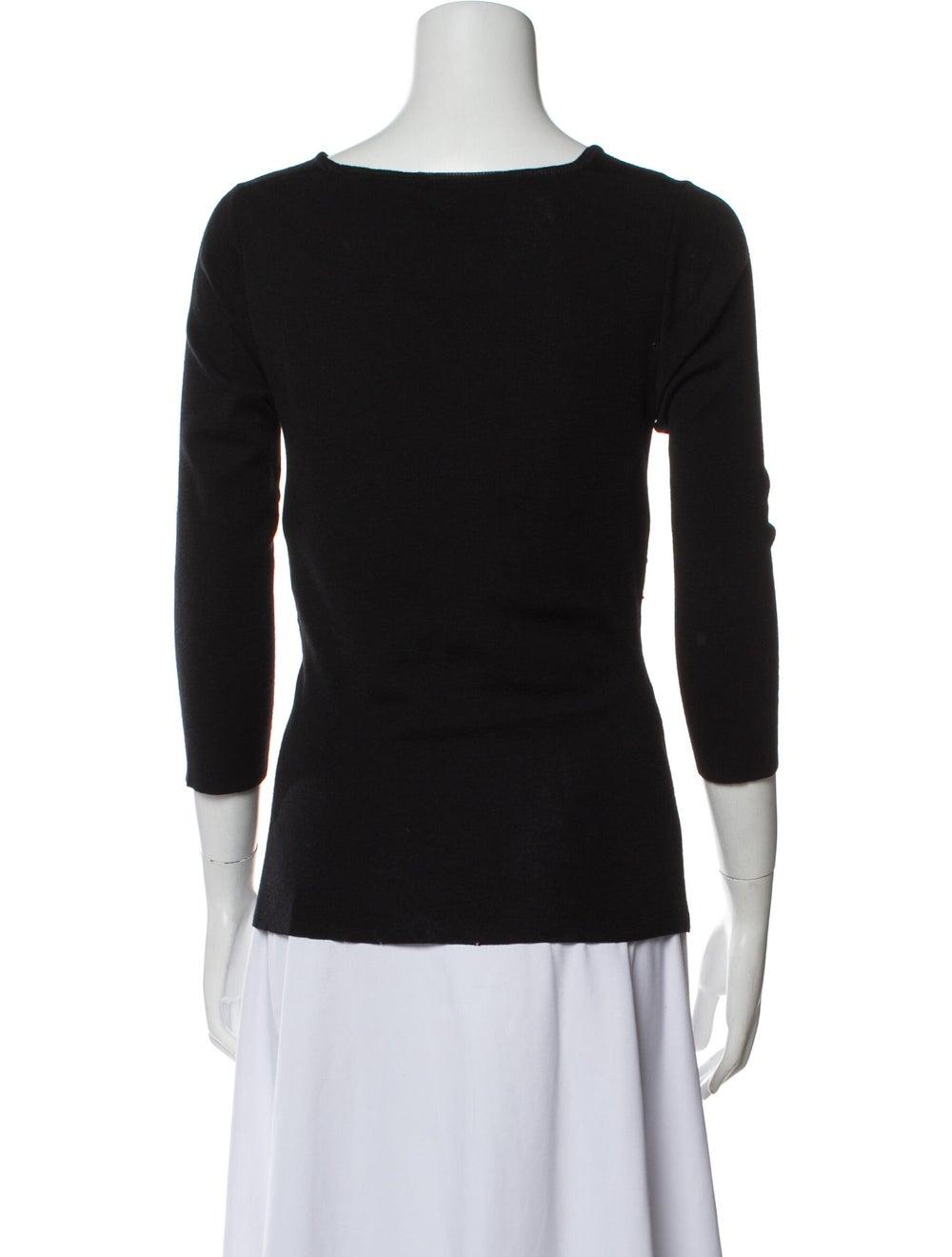 Prada Wool V-Neck Top Wool - image 3