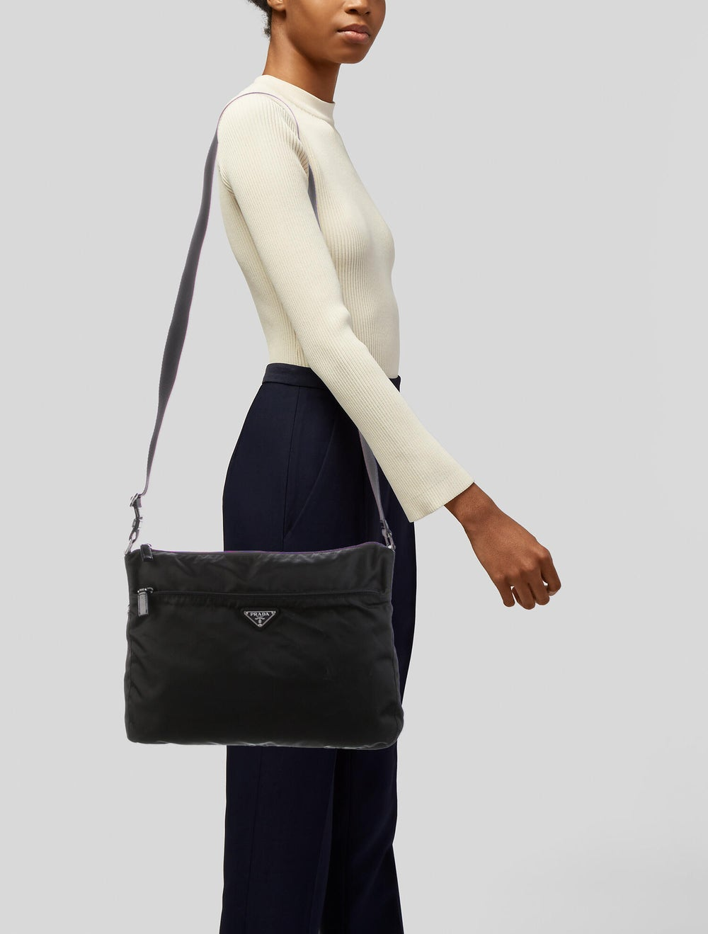 Prada Tessuto Messenger Bag Black - image 2