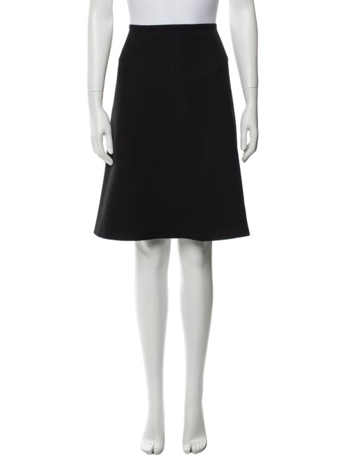 Prada Wool Knee-Length Skirt Wool - image 1