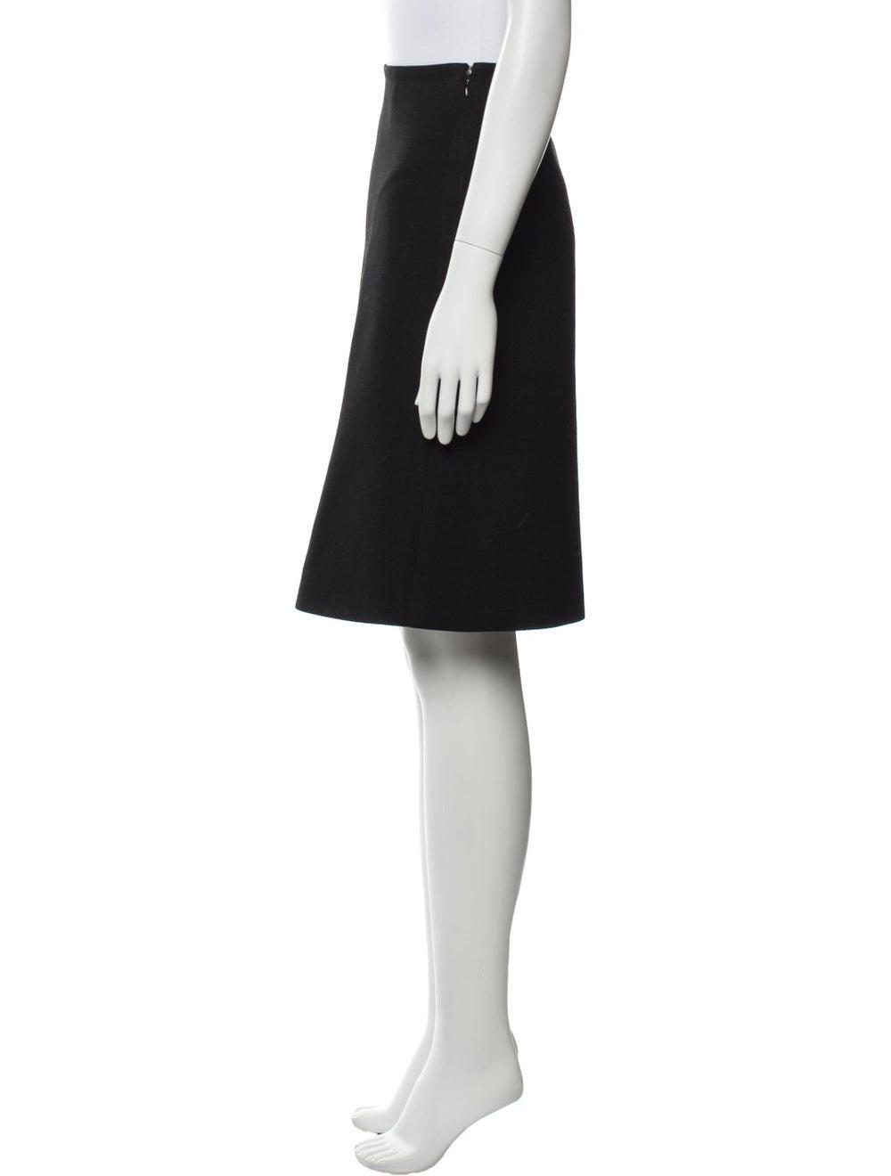 Prada Wool Knee-Length Skirt Wool - image 2