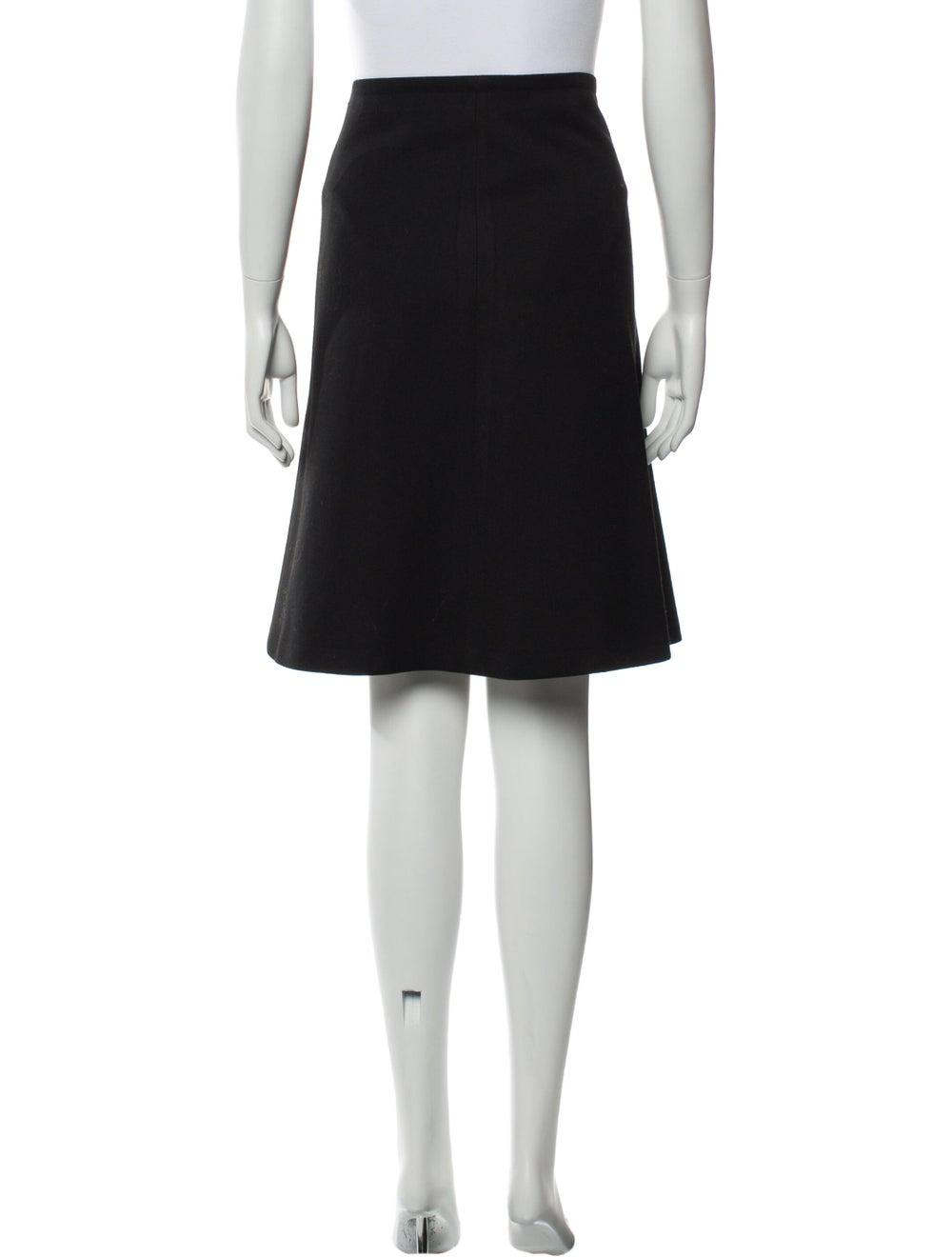 Prada Wool Knee-Length Skirt Wool - image 3