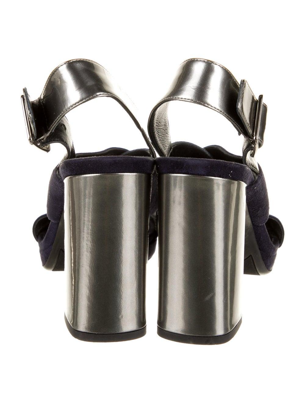 Prada Suede Slingback Sandals Blue - image 4