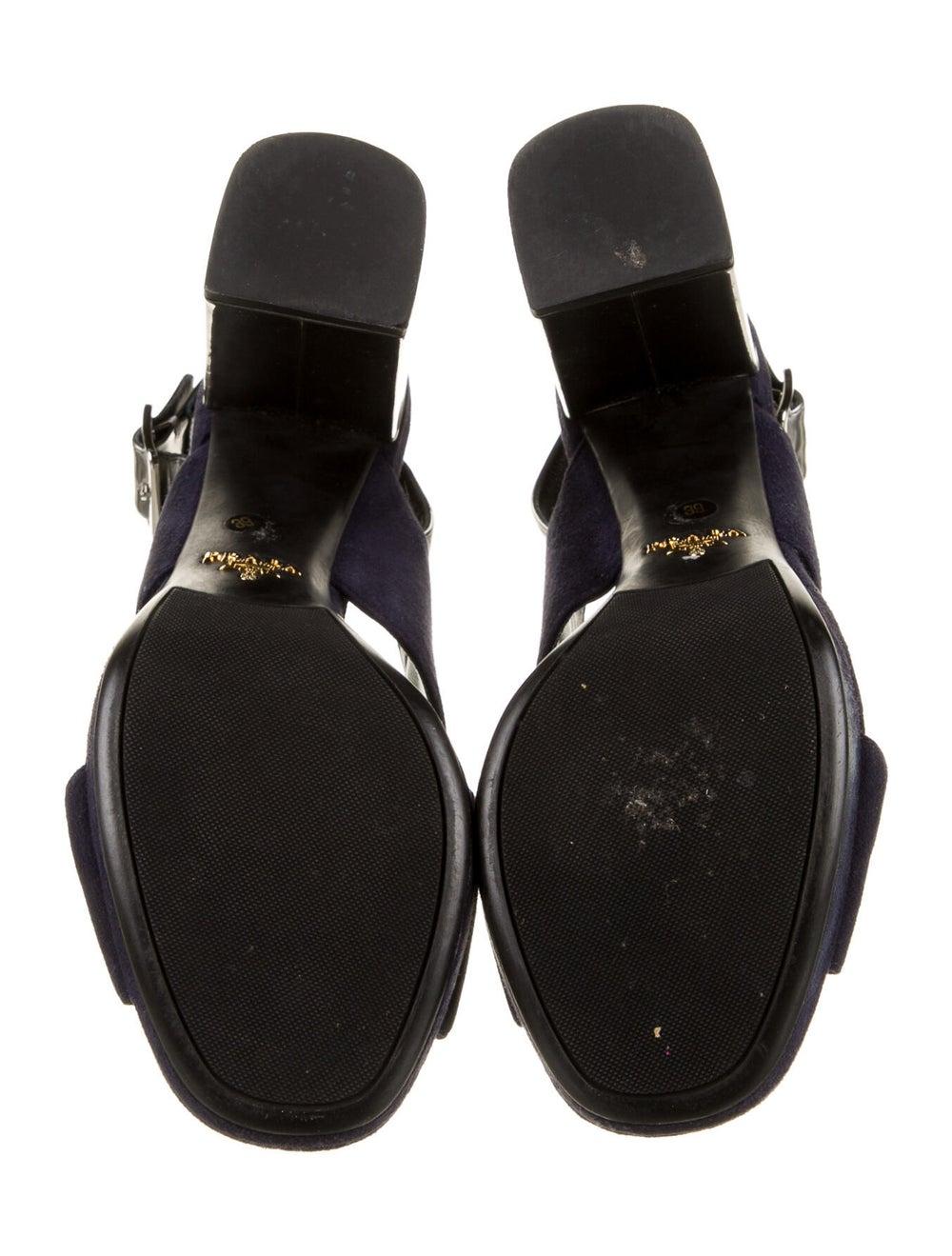 Prada Suede Slingback Sandals Blue - image 5