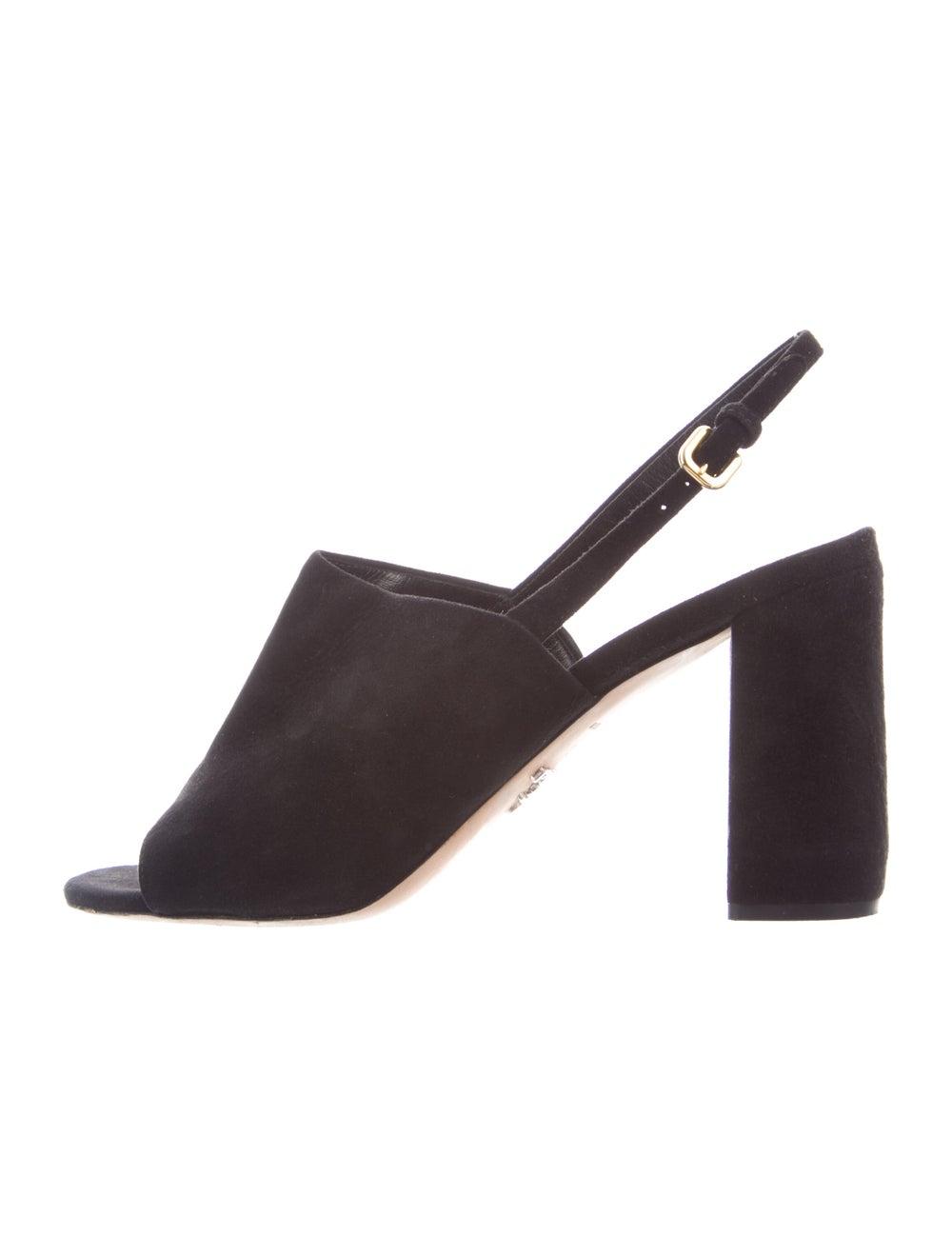 Prada Suede Slingback Sandals Black - image 1