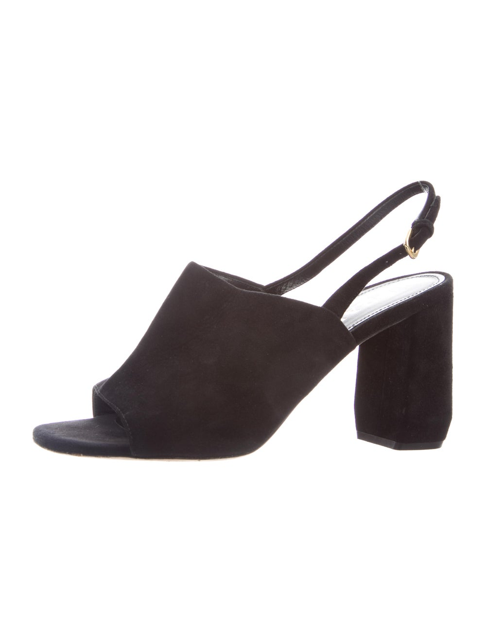 Prada Suede Slingback Sandals Black - image 2