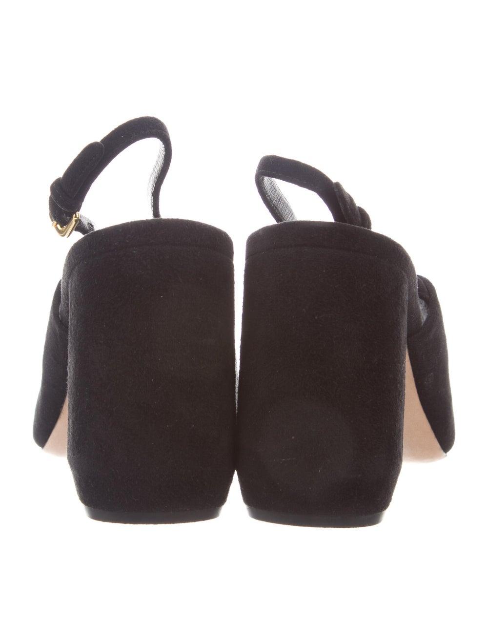 Prada Suede Slingback Sandals Black - image 4