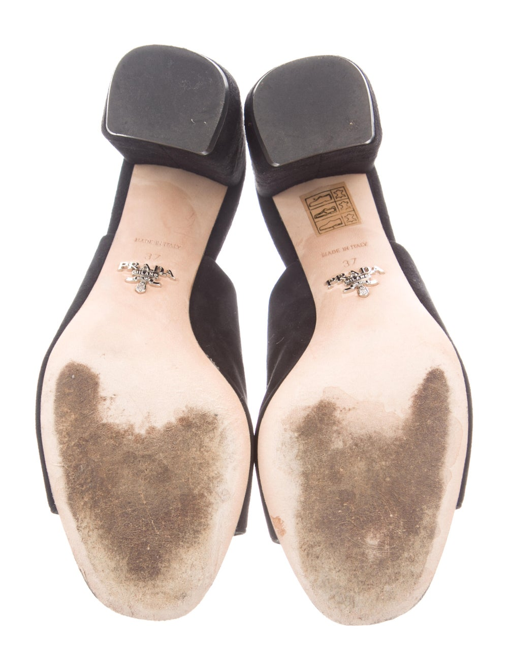 Prada Suede Slingback Sandals Black - image 5