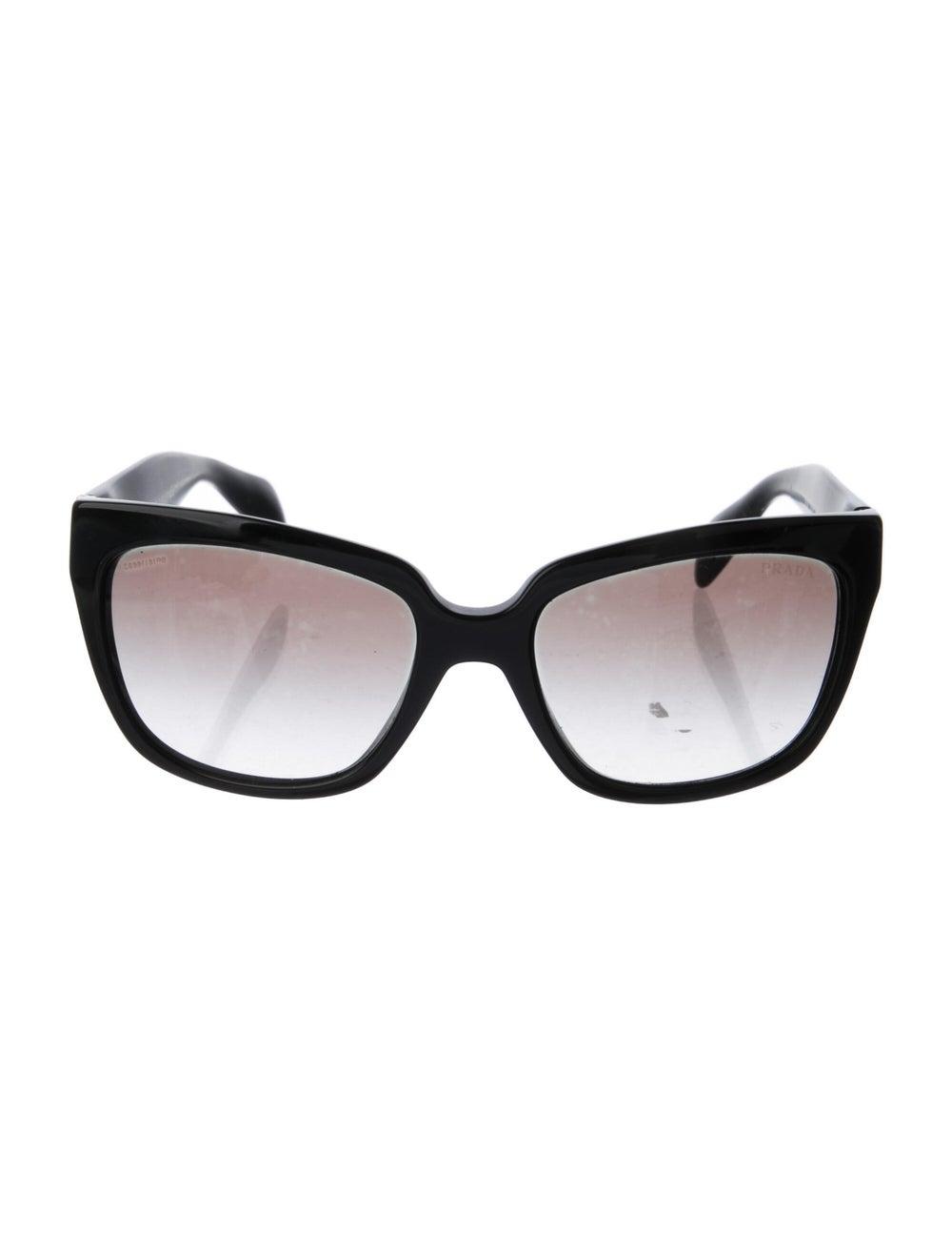 Prada Square Gradient Sunglasses Black - image 1