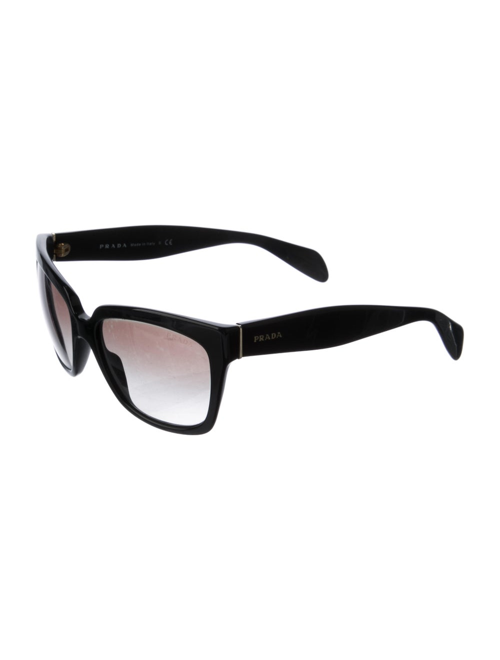 Prada Square Gradient Sunglasses Black - image 2