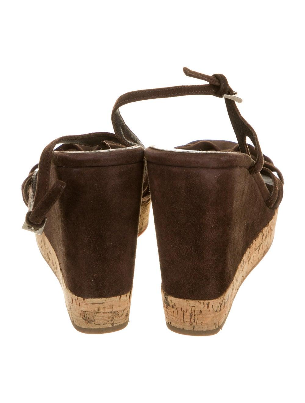 Prada Suede Slingback Sandals Brown - image 4