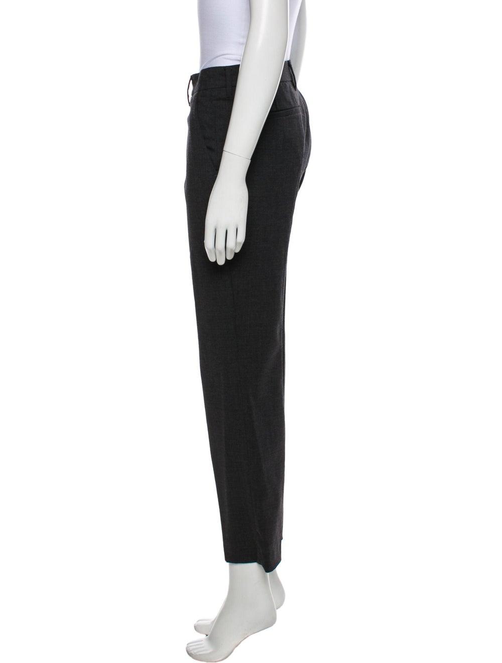 Prada Virgin Wool Straight Leg Pants Wool - image 2