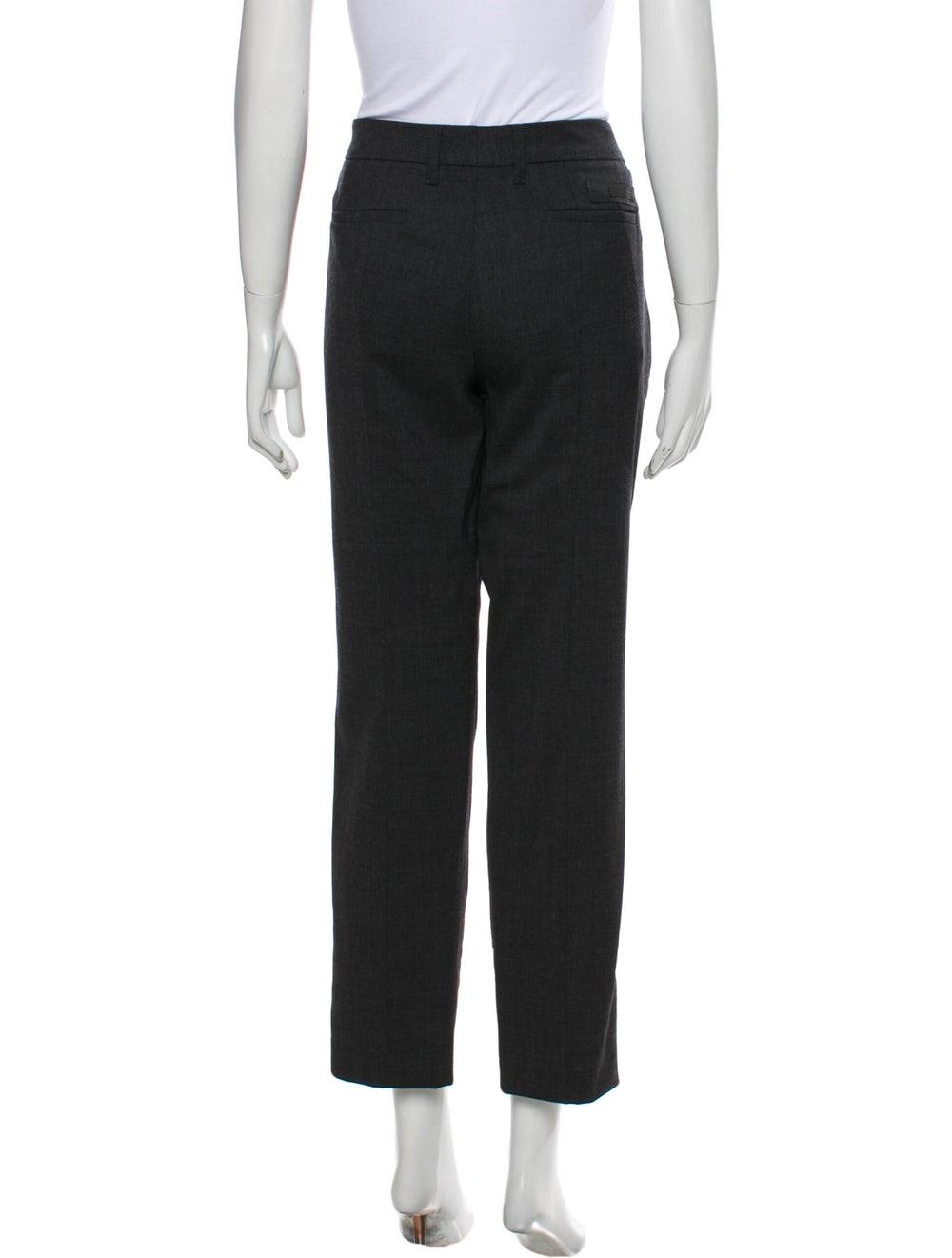 Prada Virgin Wool Straight Leg Pants Wool - image 3