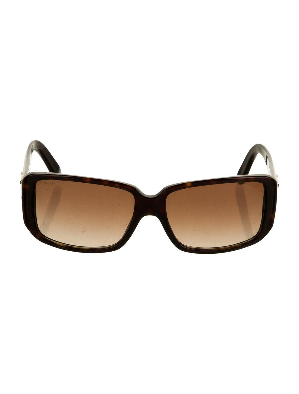 Prada Square Gradient Sunglasses Brown - image 1