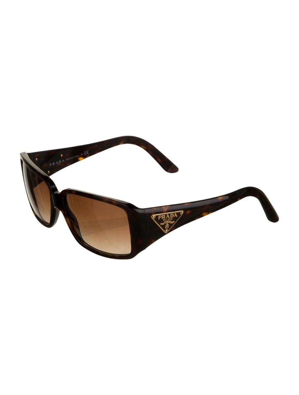 Prada Square Gradient Sunglasses Brown - image 2
