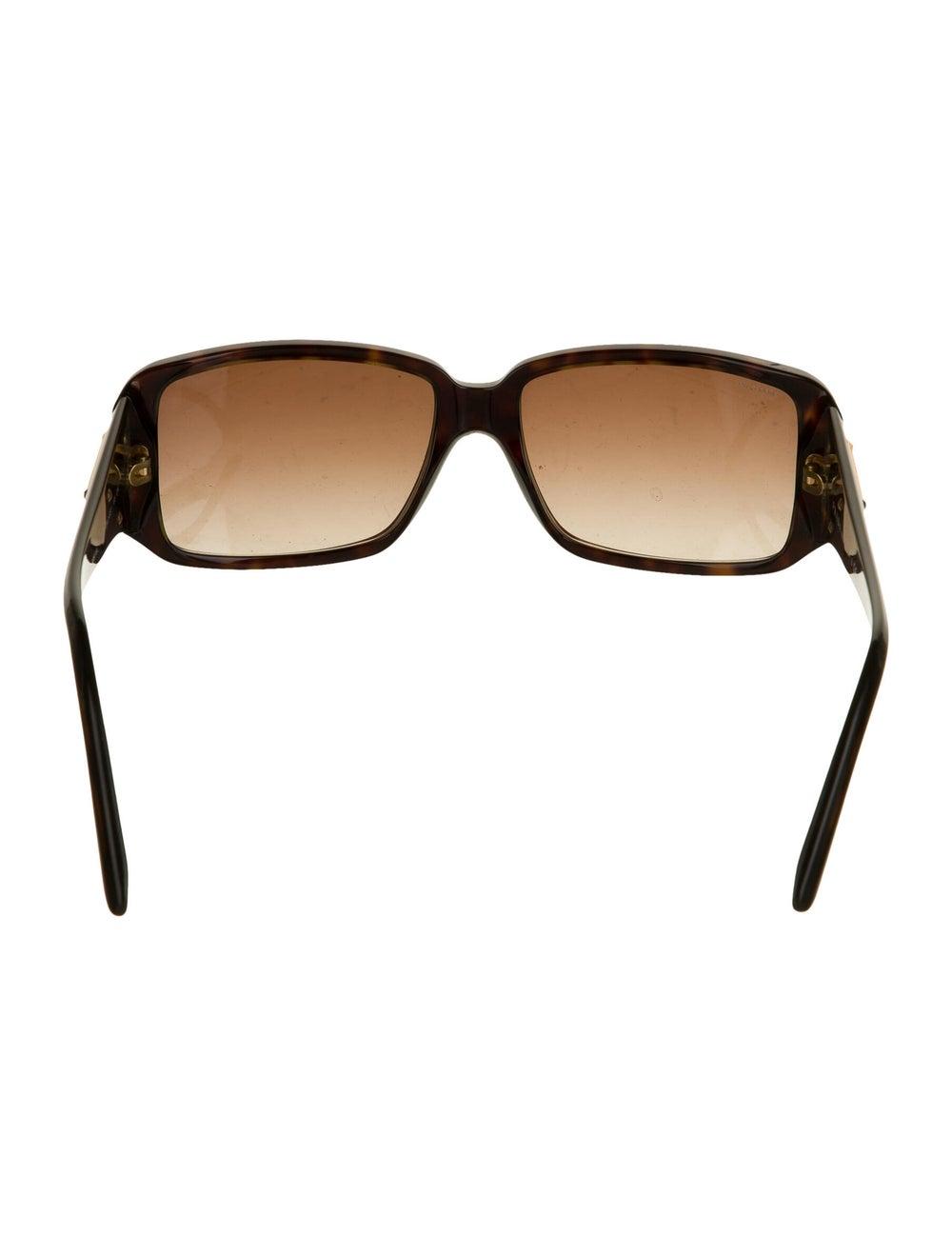 Prada Square Gradient Sunglasses Brown - image 3