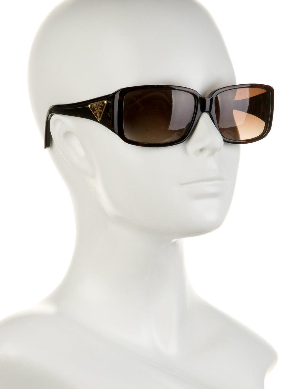 Prada Square Gradient Sunglasses Brown - image 4