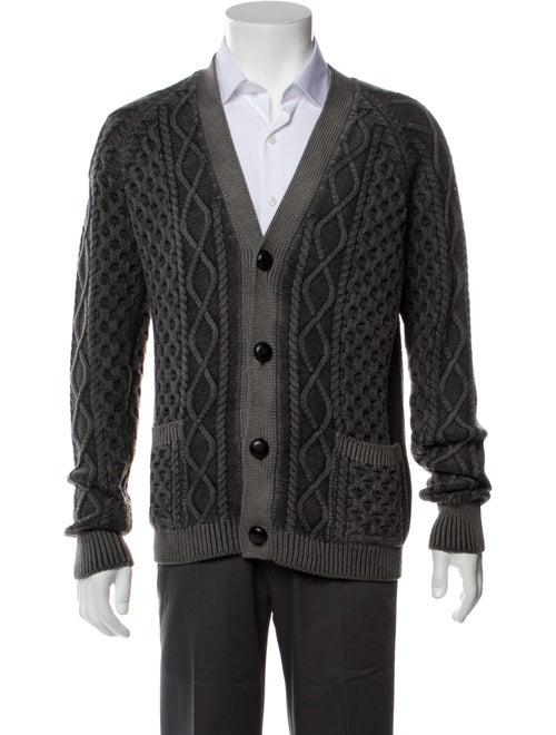 Prada Wool Printed Cardigan Wool - image 1