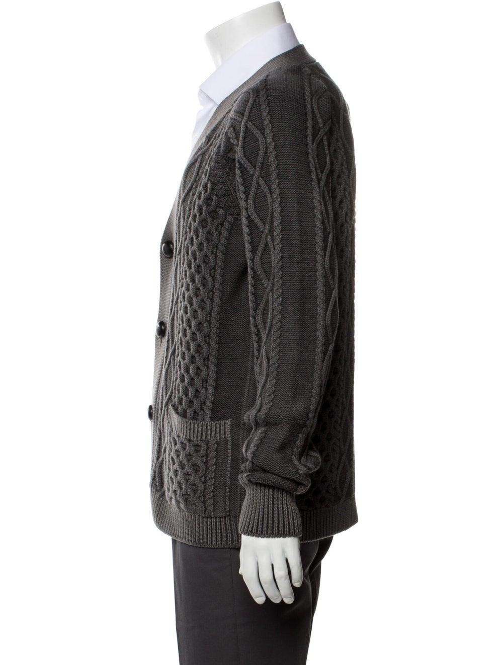 Prada Wool Printed Cardigan Wool - image 2