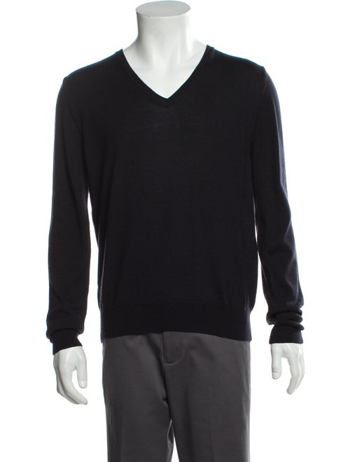 Prada Wool V-Neck Pullover Wool - image 1